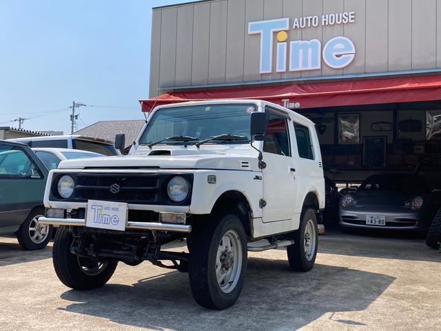スズキ ジムニー HC 4WD フロントリーフスプリング リフトアップ 夏タイヤあり エンジン交換済み サビあり 運転席RECAROシート NARDIハンドル シフトノブ