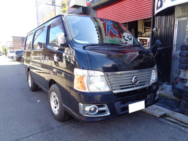 日産 キャラバン ロングEX 切替4WD 外AW 新品タイヤ