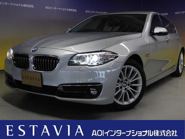 BMW 523d ラグジュアリー HDDナビ フルセグTV Bカメラ CD DVD BT USB AUX ブラックレザーシート パワーシート シートヒーター 衝突軽減ブレーキ 追従クルコン 車線逸脱警告 ISTOP オートHID