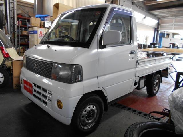 三菱 VX-SE 4WD 5速MT 新品バッテリー 軽トラック