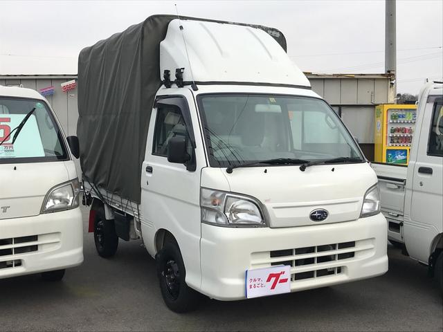 スバル 4WD 幌 AC MT 軽トラック TV ナビTV キーレス