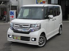 N BOXカスタムG・LPKG 衝突軽減 SDフルセグBT連動ナビ 両自動ドア