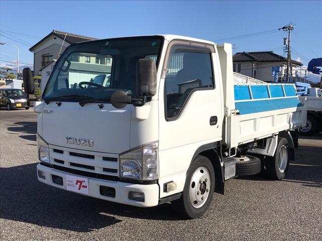 いすゞ エルフトラック 2t ダンプ電動コボレーン