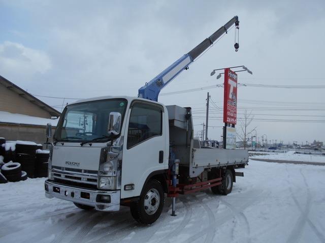 いすゞ 3トンワイド超ロング 4段クレーン アルミ平 ZR294