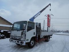 エルフトラック3トンワイド超ロング 4段クレーン アルミ平 ZR294