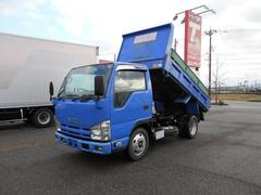 エルフトラック2トン全低床強化ダンプ 総重量5トン免許対応
