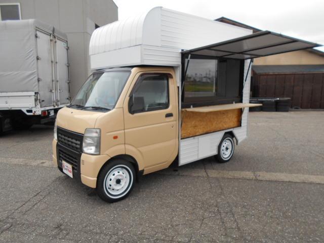 スズキ キャリイトラック キッチンカー仕様 サッシルーフ脱着式 移動販売ベース車両