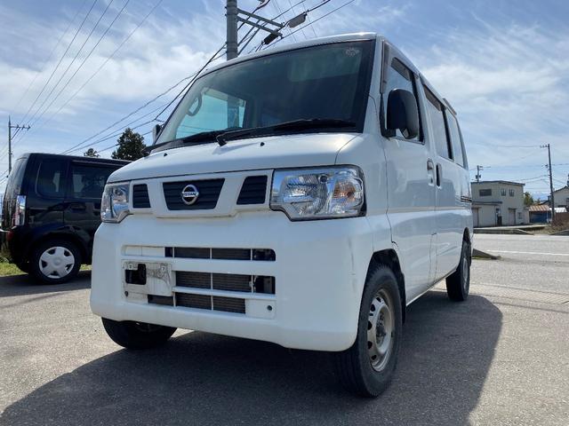 日産 DX 4WD リースアップ ルーフキャリア付 車検整備付