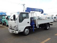エルフトラッククレーン付平ボディ 積載3t 標準ロング タダノ4段ラジコン
