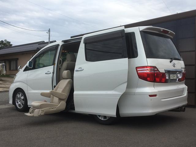 トヨタ アルファードV AX Lエディション ウェルキャブ 福祉車両 リフトアップセカンドシート リフトアップシート用リモコン 4WD 左パワースライドドア メーカーナビ バックカメラ ETC 7人乗り