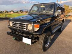 ランドクルーザー70ディーゼル 4WD リフトアップ 社外ナビ