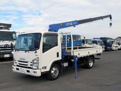 エルフトラック簡易クレーン付 3t タダノ4段 150ps