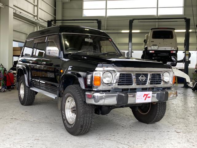 日産 サファリ グランロード エクストラ ハイルーフ ディーゼル 4WD ナビ サンルーフ リフトアップ AW オーディオ付