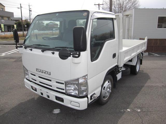 いすゞ エルフトラック 標準 10尺 FFL ダンプ 強化三方開 積載2t