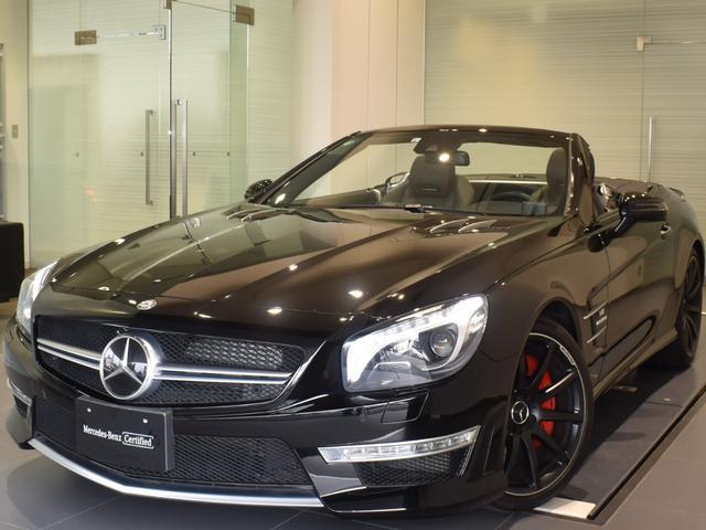 メルセデス・ベンツ SL63 AMG レーダーセーフティパッケージ 黒革 Harman/Kardon F19/R20インチアルミホイール 正規ディーラー認定中古車 1年保証