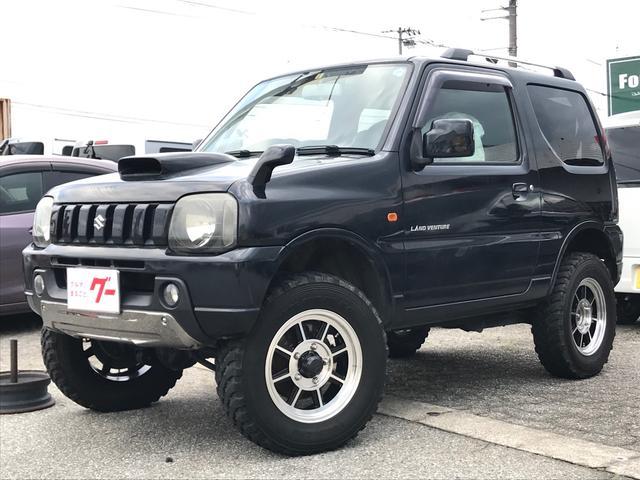 スズキ ジムニー ランドベンチャー 4WD 5MT ブラック 社外マフラー