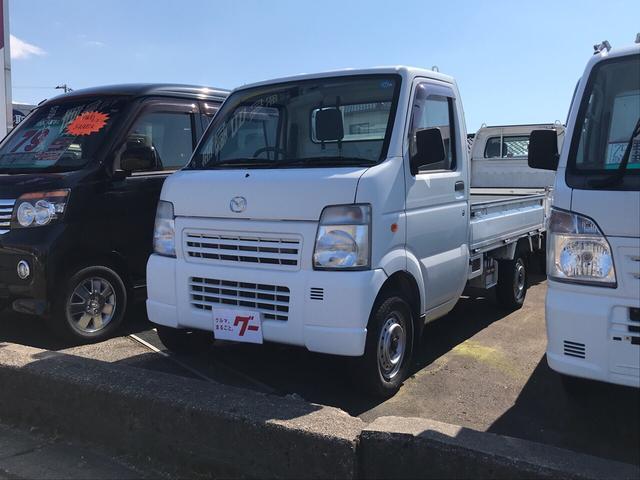 マツダ パワステ エアコン 4WD AC MT 軽トラック ホワイト