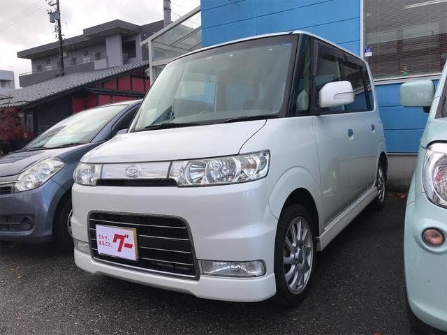 タント カスタムX 軽自動車 4WD パールホワイトIII AT