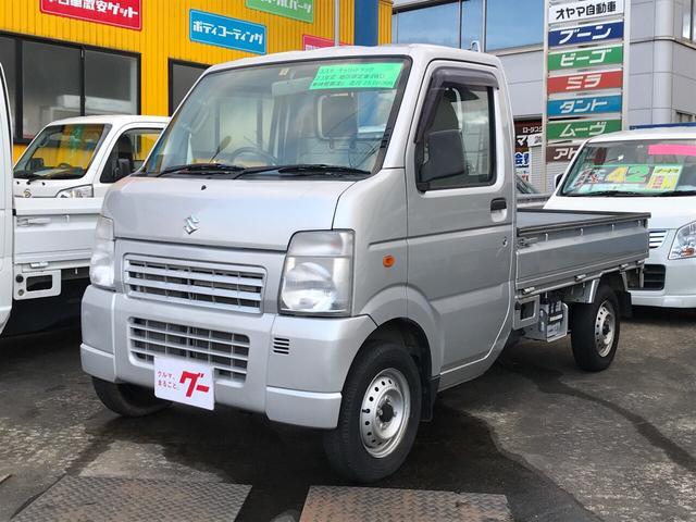 スズキ KU 4WD AC MT 軽トラック シルバー