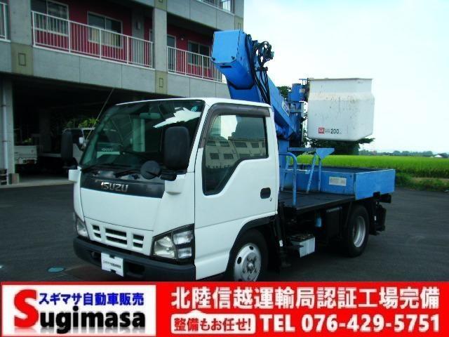 いすゞ エルフトラック  9.7m高所作業車 アイチ製SS10A 作業床積載荷重200キロ