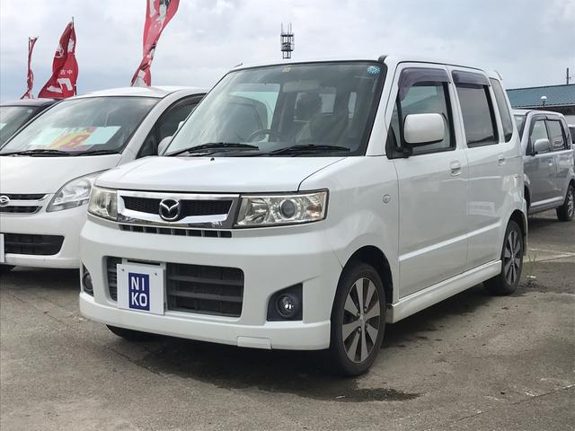 マツダ AZワゴン カスタムスタイルX 4WD 軽自動車 ホワイトM AT AC
