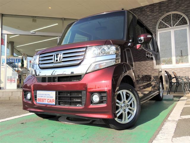 ホンダ N-BOXカスタム G・Lパッケージ4WD地デジナビ タイヤ新品 スタッドレス付