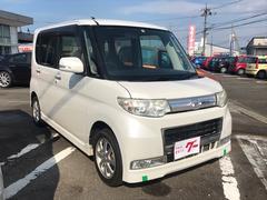 タントカスタムX ナビ 軽自動車 パールホワイトIII AT AC