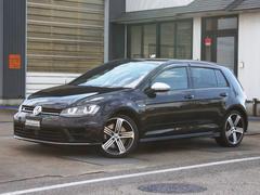 VW ゴルフR純正ナビ 黒革シート ワンオーナー ディーラー記録簿4枚有り