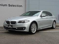 BMW523iラグジュアリー 認定中古車 黒レザーシート ACC
