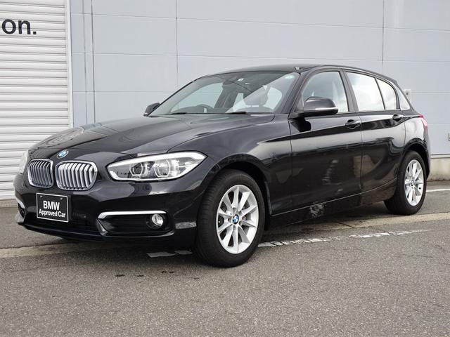 BMW 1シリーズ 118i スタイル 前車接近警告機能 被害軽減ブレーキ 車線逸脱警告機能 クルーズコントロール LEDヘッドライト 純正HDDナビゲーション 社外地デジチューナー 16インチアロイホイール Bluetooth