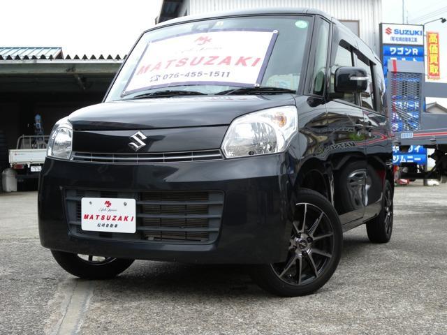 スズキ スペーシア T レーダーブレーキサポート スマートフォン連携ナビゲーション装着車 4WD ターボ バックカメラ ワンオーナー