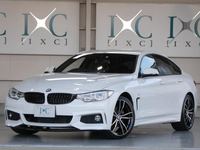 BMW 420iグランクーペ Mスポーツ 新品フロントスポイラー 新品19インチAW 純正HDDナビ 地デジフルセグTV バックカメラ DVDビデオ再生 ACC 追跡機能クルーズコントロール 衝突軽減ブレーキ 車線逸脱警告 オートテールゲート