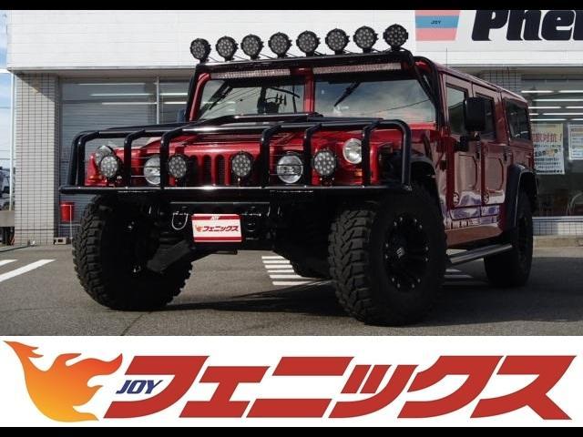 ハマー ベースグレード ディーゼルターボ KMC XDシリーズ17インチ 革シート MOMOウッドコンビハンドル ブラインドモニター