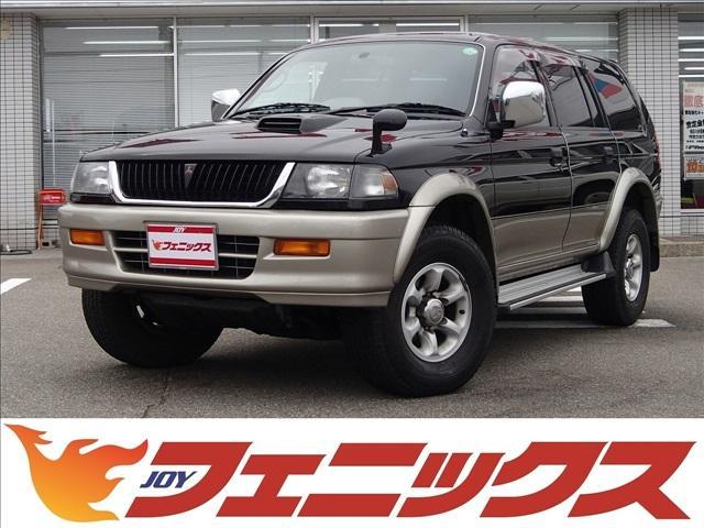 三菱 X 切替4WD ワンオーナー ディーゼルターボ センターデフロック ワイドボディ 純正アルミ ターボタイマー Rスポイラー オートエアコン Wエアバッグ ABS