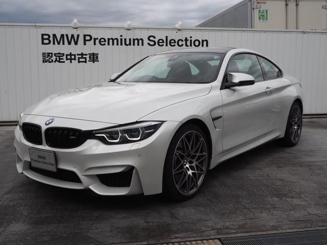 BMW M4クーペ コンペティションMDCT 元デモカー 赤レザー