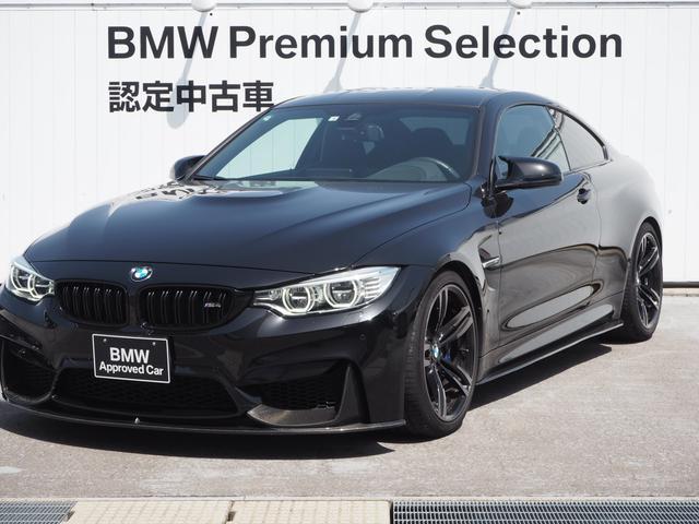 BMW M4クーペ M4クーペ(4名) 認定中古車 6速MT アダプティブMサスペンション 社外カーボンスポイラー 社外マフラー