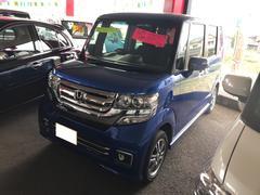 N BOXカスタムG SSパッケージ TV ナビ 軽自動車 4WD ブルー