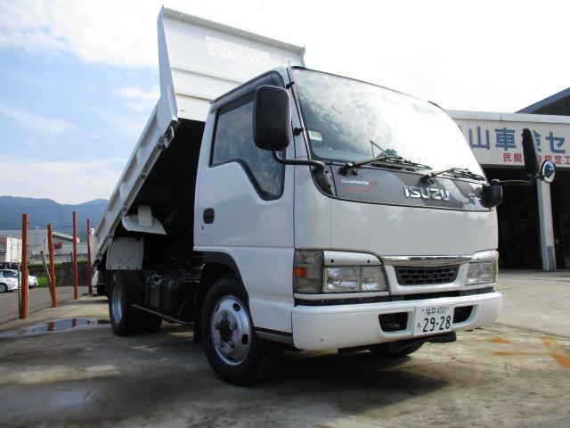 いすゞ エルフトラック  2tダンプ 低床 デュアルモードMT