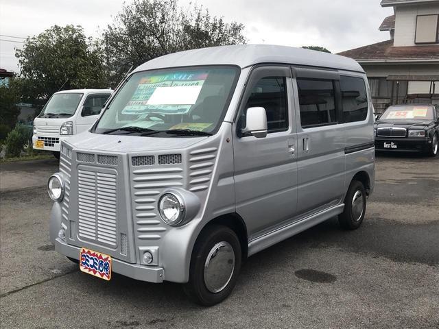 ホンダ L4WD フレンチバス仕様 オートマ 黒革調シートカバー
