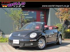 VW ニュービートルカブリオレヴィンテージ HDDナビ AGAアルミ 赤革シート