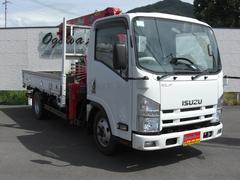 エルフトラック2トン 4WD ターボ 4段クレーン フック格納