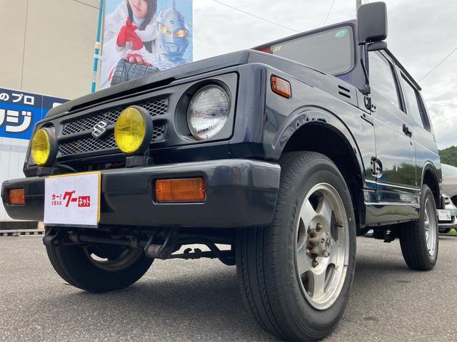 スズキ ジムニー HC 4WD 5速MT ターボ エアコン パワステ 社外パワーウインドウ付 16アルミ CDデッキ 型式JA11V