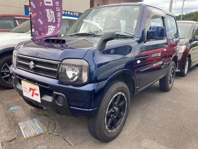 スズキ ジムニー XG 4WD ターボ 5速MT CDデッキ キーレスエントリー 新品アルミホイール 衝突安全ボディ ABS エアコン パワステ パワーウィンドウ