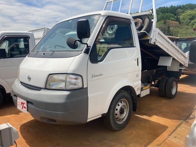 日産 バネットトラック  ダンプ 4WD 5速MT 低床 ディーゼル 型式SK22LN エアコン パワステ パワーウインドウ ABS 1t積 後輪ダブルタイヤ