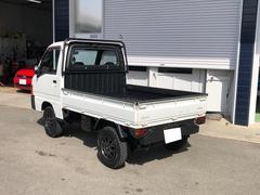 サンバートラック 5速マニュアル 4WD ETC 社外アルミホイール マッドタイヤ リフトアップ 前後バンパーカット チッピング塗装