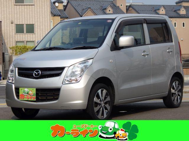 マツダ AZワゴン XG ポータブルナビ TV 4WD 禁煙車 キーレス15AW