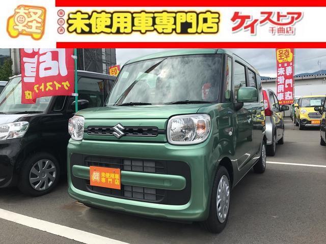 スズキ G 届出済未使用車 スマートキー CVT グリーン 2WD