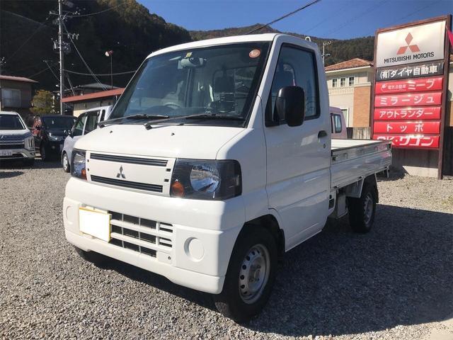 三菱 運坊 4WD AC MT 軽トラック ナビ ETC ホワイト