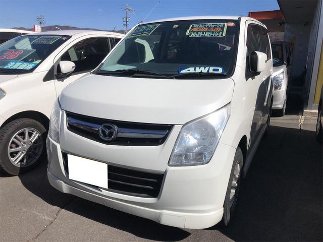 マツダ AZワゴン XSスペシャル 4WD CD再生 キーレスエントリー エアロ フルフラットシート シートヒーター