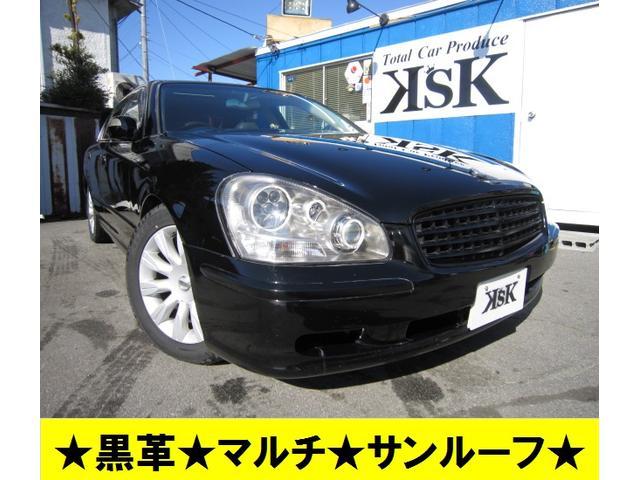 日産 450XV黒革サンルーフマルチ社外ヘッドライトローダウン